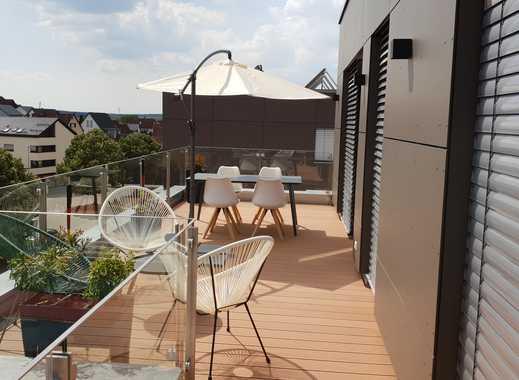 Traumhafte 3-Zimmer-Penthouse-Wohnung mit 2 Terrassen und EBK in Dornstadt