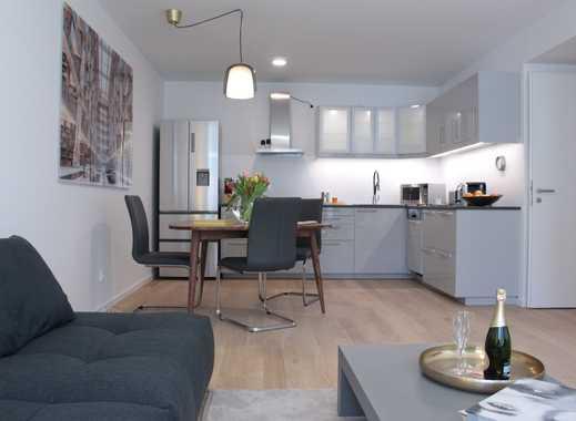 Stilvolle 3-Zimmer-Wohnung in Bogenhausen, Komplett möbliert - grosse Terrasse, Garten, Neubau.