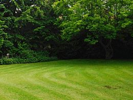 schöner umlaufender Garten