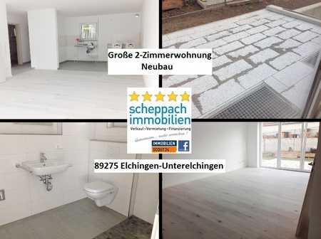 Gehobener Neubau-Zweitbezug in Unterelchingen... EG-Hochparterre mit Terrasse! in Elchingen