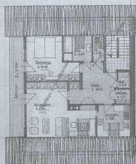 2,5 Zimmer DG-Wohnung, 10m Balkon und Einbauküche in Sonthofen in Sonthofen