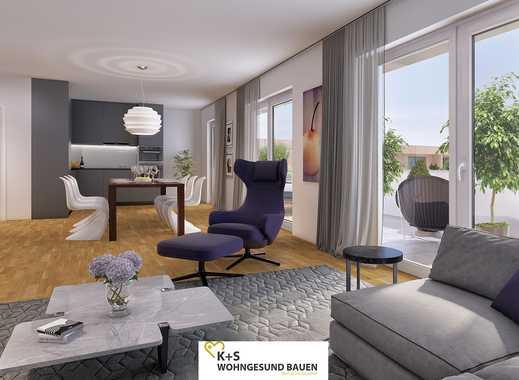 3-Zimmer-Penthousewohnung mit ca. 50 m² sonnigem Wohn-/Ess-/Kochbereich und großer Dachterrasse