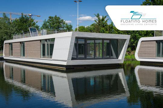 floating homes schwimmendes haus in hamburg leben auf dem wasser. Black Bedroom Furniture Sets. Home Design Ideas