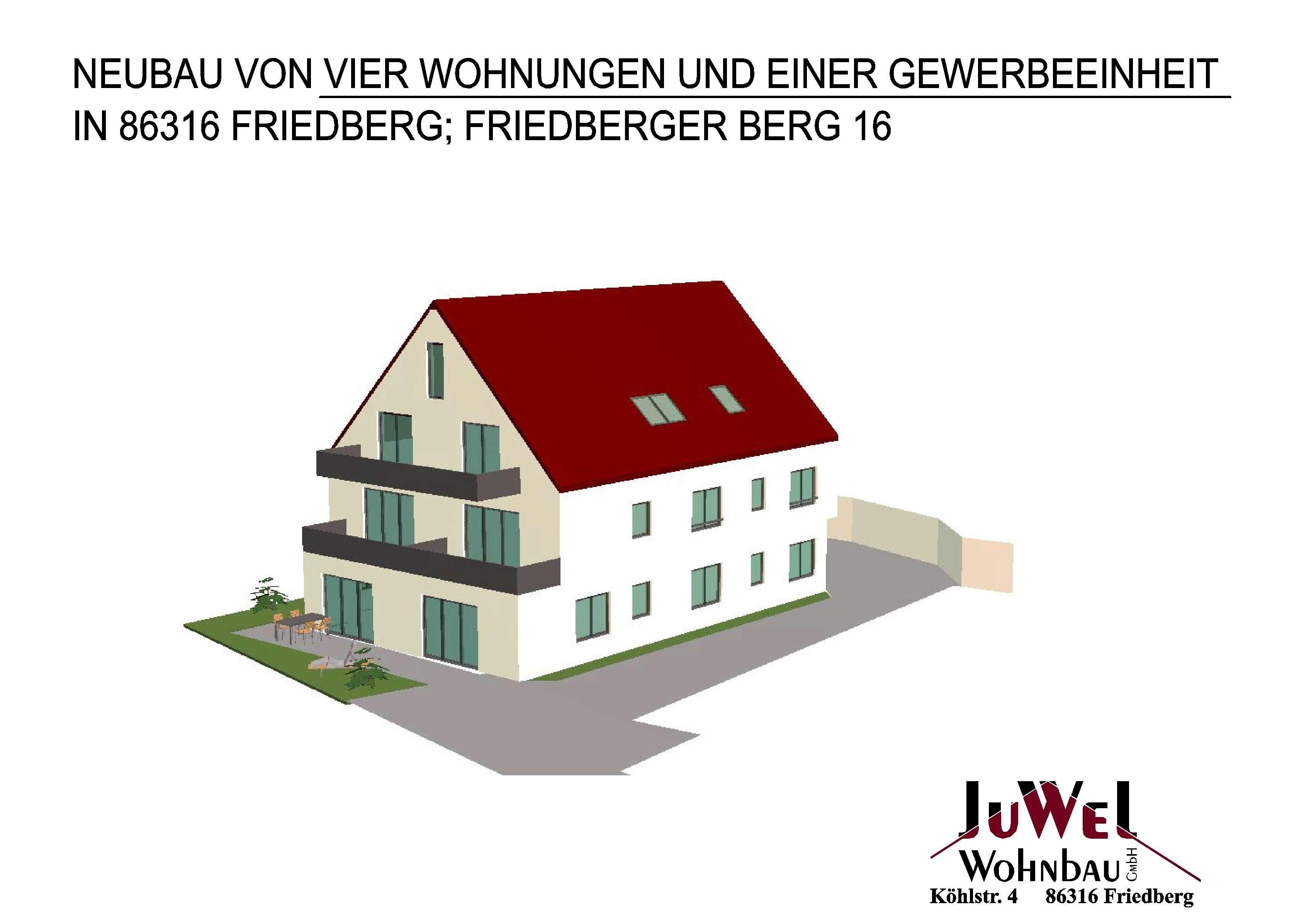 *NEUBAU* Schöne Erdgeschosswohnung mit kleinem Gartenanteil in Friedberg (Aichach-Friedberg)