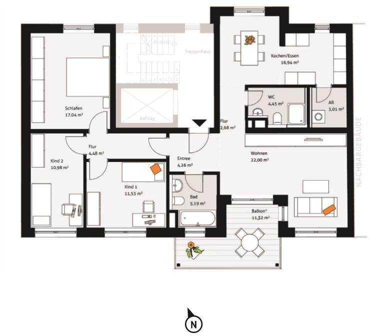 Sonnige 4-Zimmer-Wohnung in der Fürther Südstadt in