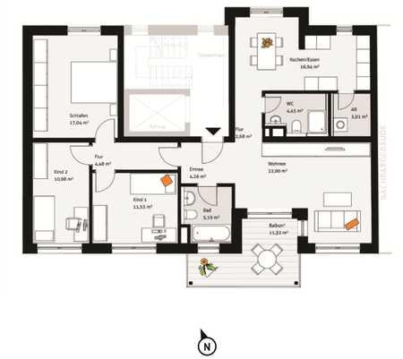 Sonnige 4-Zimmer-Wohnung in der Fürther Südstadt in Südstadt (Fürth)