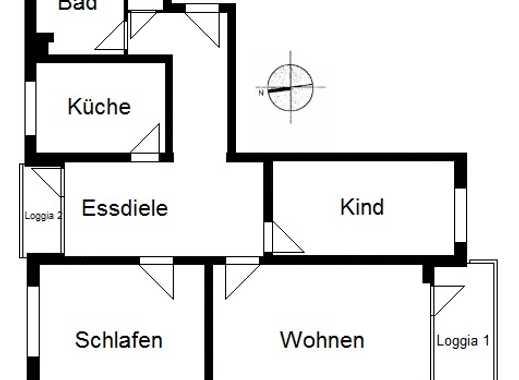 3 - Zimmer-Wohnung in Hamburg-Jenfeld