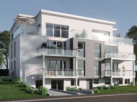 Neubau: Gartengeschoss-Wohnung mit Terrasse und Gartenanteil
