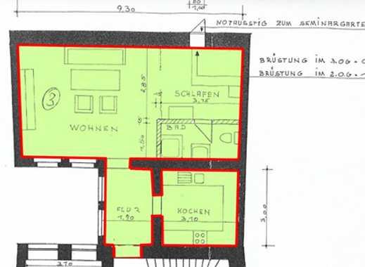 Wohnung in Passau Altstadt (Grabengasse 23) zu vermieten