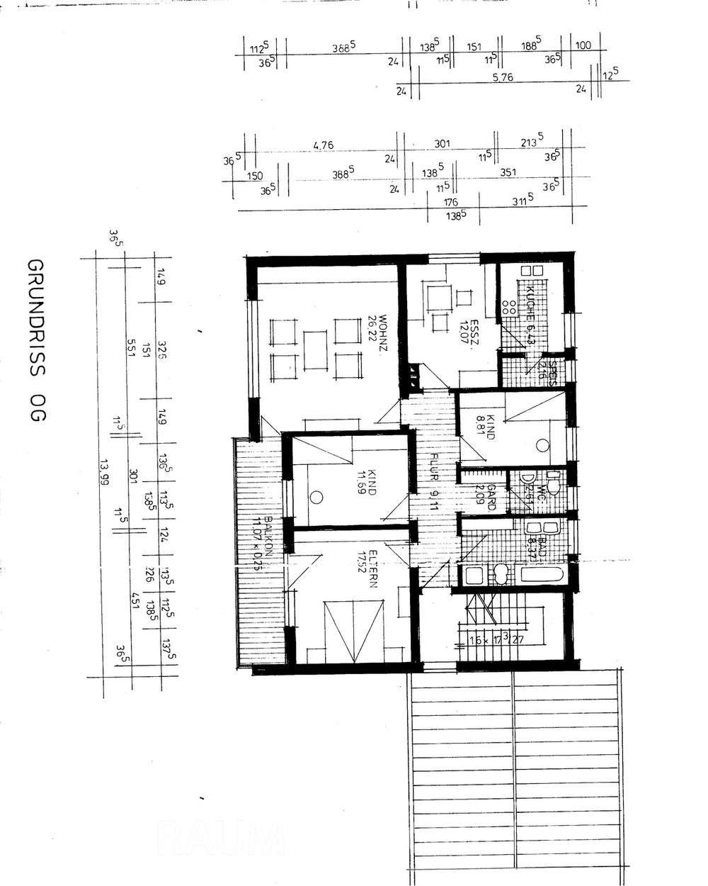 Raum-Immobilien: Helle, ruhigeWohnung zu vermieten.