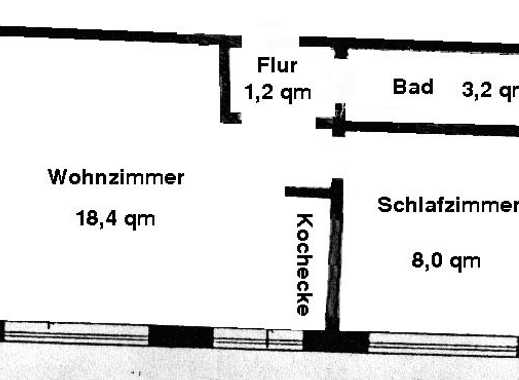 2 ZB + Kochecke - 31m² - in Bielefeld/Sennestadt zu vermieten