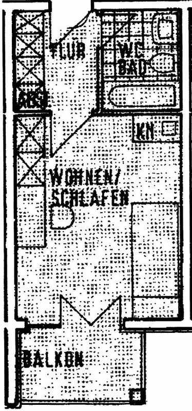 1 Zimmer Wohnung in Nähe zum Klinikum in Roter Hügel/Oberobsang/Unterpreuschwitz (Bayreuth)
