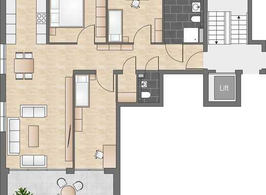 Neubau: 4-Zimmerwohnung mit offener Küche, Tageslichtbad und Abstellraum