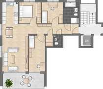 Neubau 4-Zimmerwohnung mit offener Küche