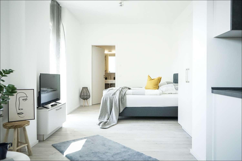 NEUBAU BOARDING HOUSES 1 Zimmer im EG -voll ausgestattet - PRIME PARK **Tagespreis Euro 79,- €** in