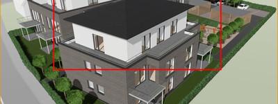 Neubau: Penthouse-Wohnung + 2x Carport im Herzen von Werste (provisionsfrei)