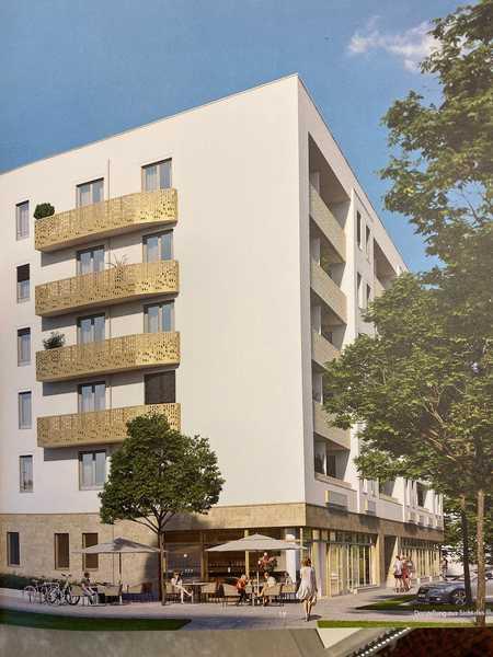 Alexisquartier: Erstbezug 3 ZW mit EBK, Loggia mit Fernblick in Perlach (München)