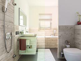 Zwei-Wasser Badezimmer