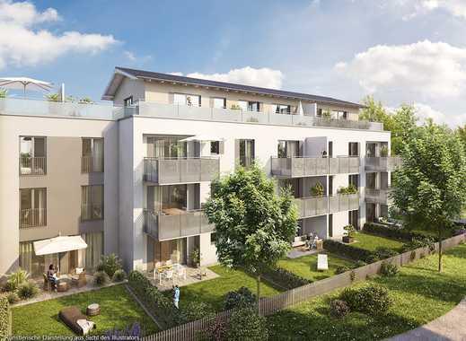 4-Zimmer-Balkonwohnung mit großem Wohn-Ess-Kochbereich und 2 Bädern