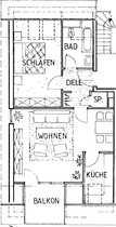 Attraktive 2-Zimmer-Dachgeschosswohnung mit Balkon in