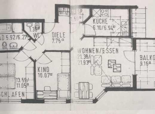 Stilvolle, gepflegte 3-Zimmer-DG-Wohnung mit Balkon, EBK, vollmöbliert in Neckarwestheim