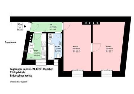 *Giesing*2 Zimmer*Küche mit EBK*Bad mit Wanne und Fenster*Kellerabteil* in Obergiesing (München)