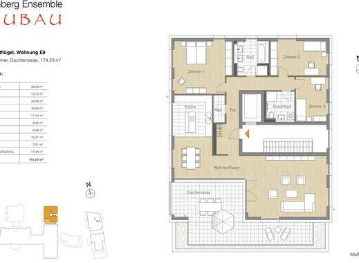 4 Zi.-Whg., Balkon, Lage im Neubau 5.OG ganze Etage Dachterrasse