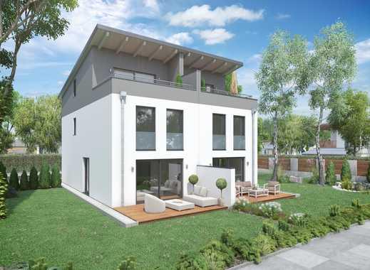 Moderne Doppelhaushälfte (Haus 3) Mit Pultdach Und Dachterrasse Als  U201eWengerter Energie