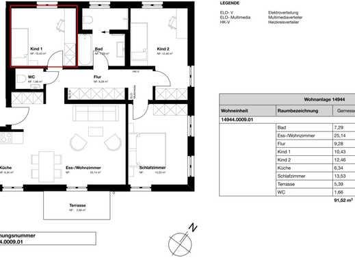 1 WG-Zimmer in 4er WG, Ruhige Gegend, Neubau, Bezugsfertig ab sofort, Zimmer unmöbliert