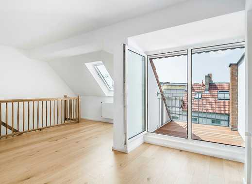 Erstbezug nach Modernisierung: Maisonettewohnung mit Einbauküche und Balkon