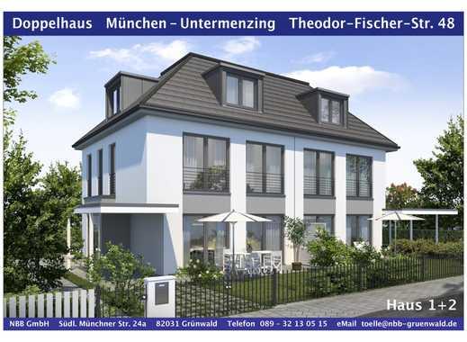 Neubau von 2 Doppelhaushälften in Untermenzing - KfW 55