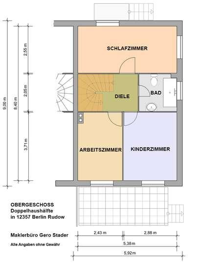 Gepflegte Doppelhaushälfte im Rudower Blumenviertel - Bild 30