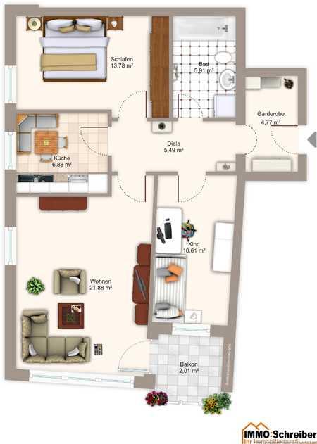 Sehr helle  Wohnung mitten im Zentrum Deggendorfs in Deggendorf