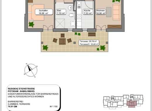 2-Zimmer Neubauwohnung mit Gartenzugang in gepflegter Anlage - Bezug Ende 2019