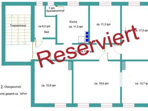 Treppenhaus grundriss maße  Attraktive, sonnendurchflutete 4-Raum Whg., modernisiert ...