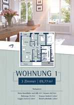 Schöne 3 Zimmer Wohnung im