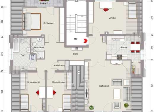 Großzügige 5 Zimmer - Wohnung mit 3 Balkonen und Tiefgarage