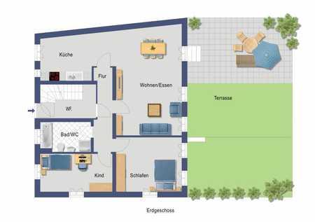 Attraktive 3-Zimmer-Wohnung in kernsaniertem Rückgebäude mit zukünftiger Terrasse und Gartenanteil  in Altstadt, Innenstadt (Fürth)