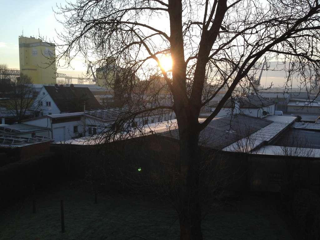 Blick aus dem Wh.zimmerfenster