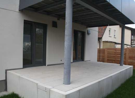 Erstbezug: Attraktive 3-Zimmer-EG-Wohnung mit Hobbyraum in Gerlingen