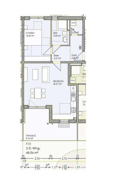 Sonnige 2-Zimmer Wohnung mit Gartenanteil zu vermieten (WH 10) in Wolfgang