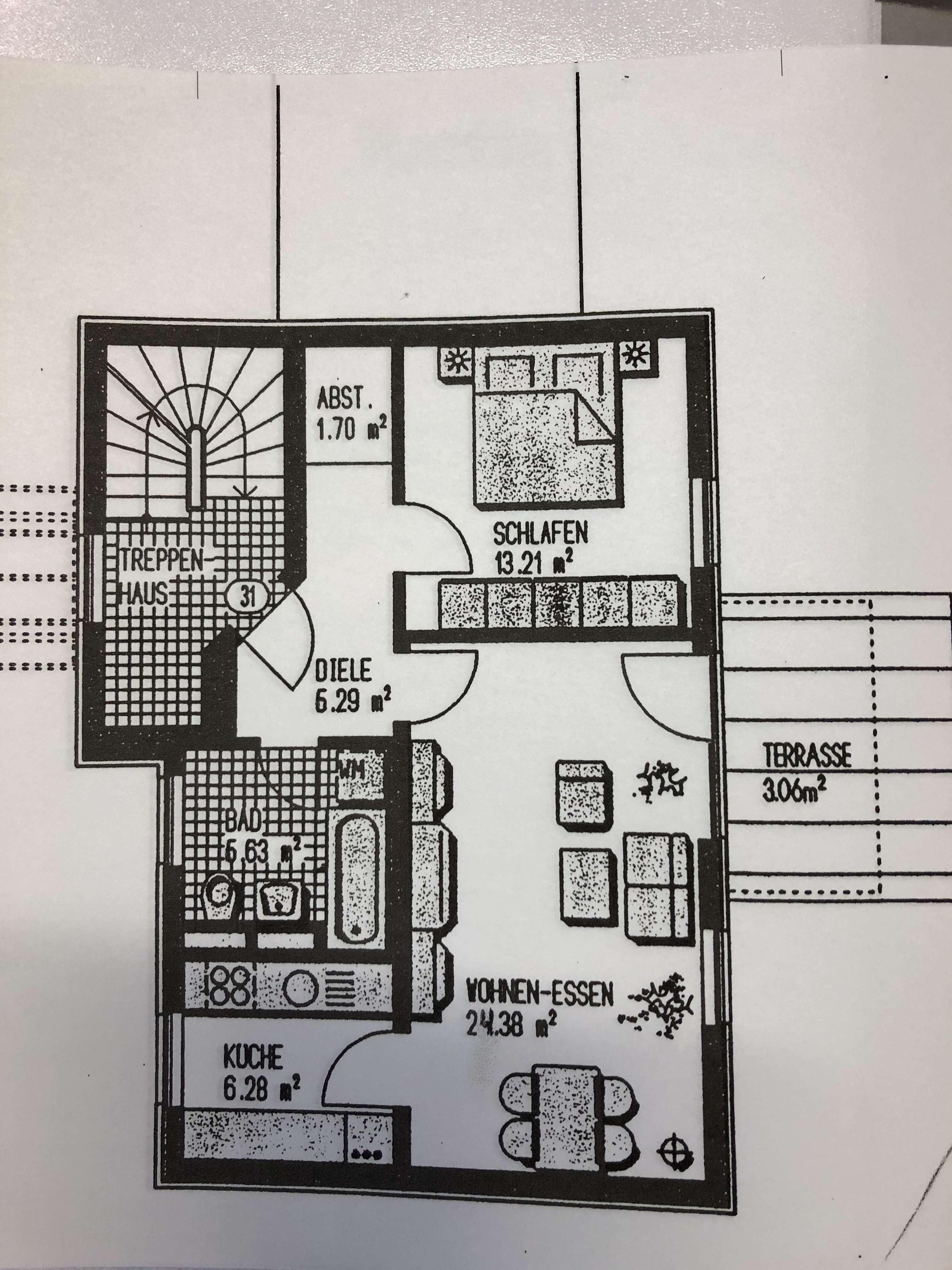 Vermiete sehr schöne  2-Zimmer-EG-Wohnung mit Terrasse in Kaufering in Kaufering