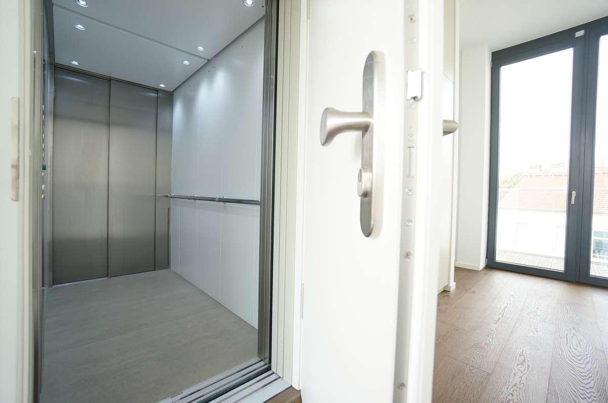 Aufzug direkt in die Wohnung