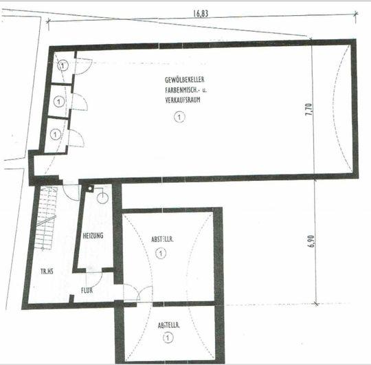 Grundriss Untergeschoss mit Ve