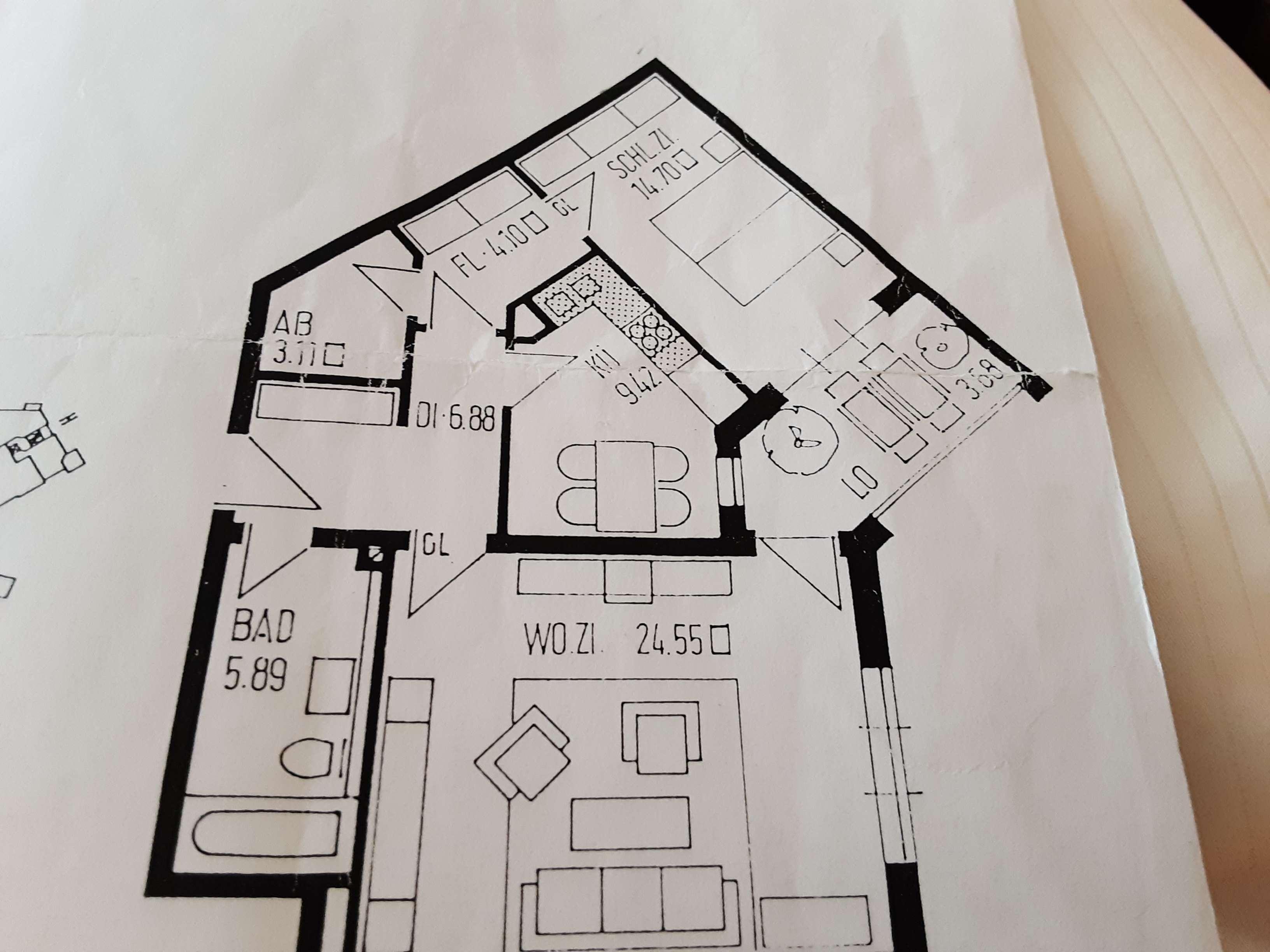 Schöne 2 Zimmerwohnung befristet für 3 Monate zu vermieten in Universitätsviertel (Augsburg)