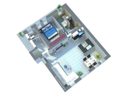 Außergewöhnliche, sanierte 2-Raum-DG-Wohnung - Klimatisiert und Provisionsfrei