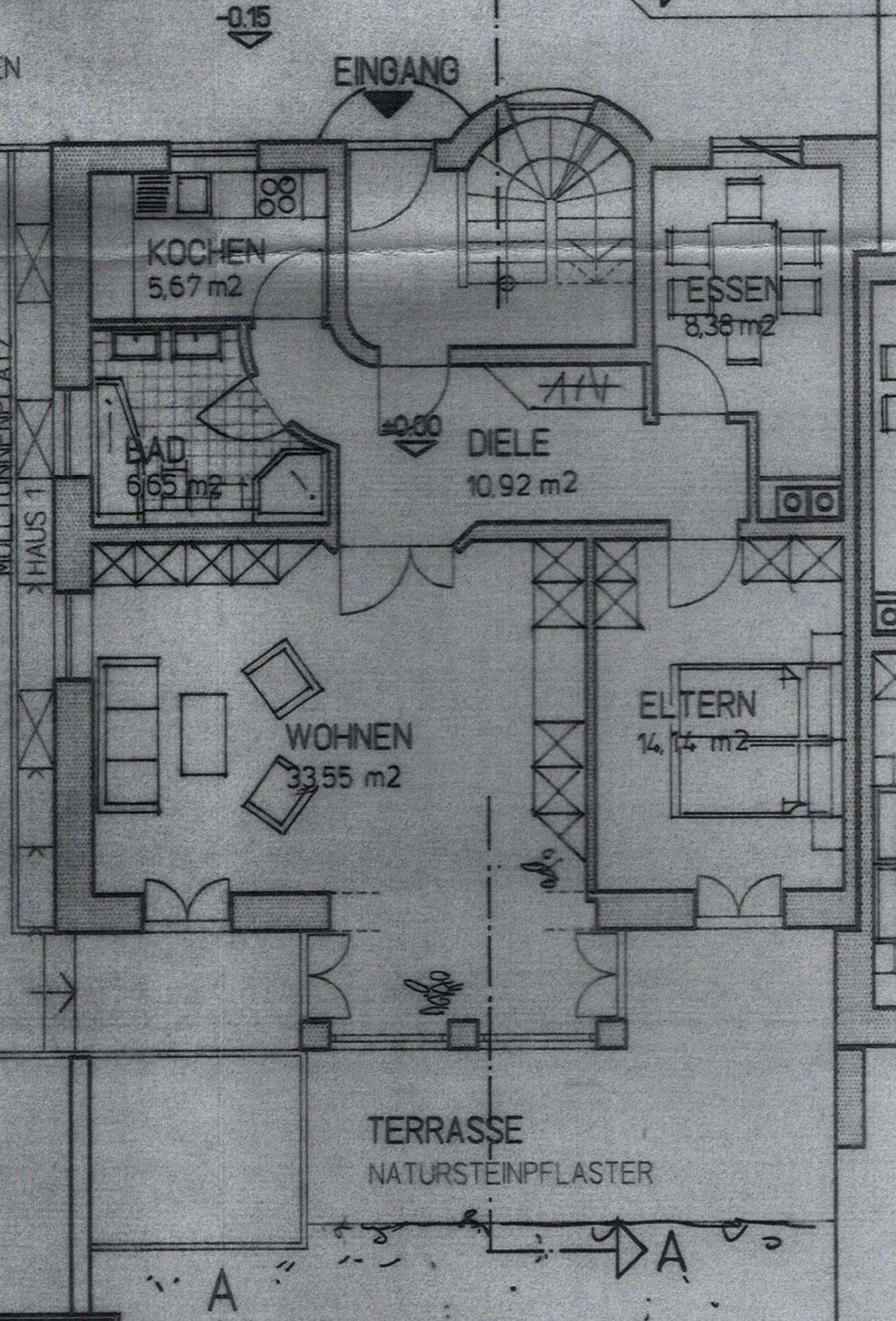 Gepflegte 3-Zimmer-Erdgeschosswohnung mit Balkon und Einbauküche in Pasau in Heining (Passau)