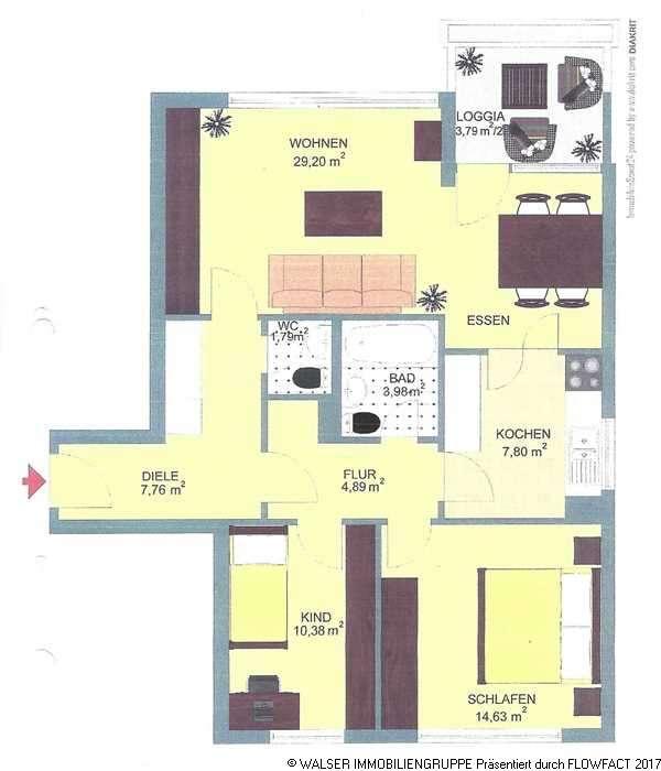 Elegante 3-Zi.-Komfort-Wohnung mit großer Süd-Loggia in 85521 Ottobrunn (S7) - nur für 3 Personen in Ottobrunn