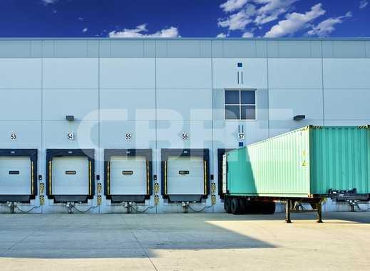 Projektierte Hallen-, Service- und Produktionsflächen an der A92