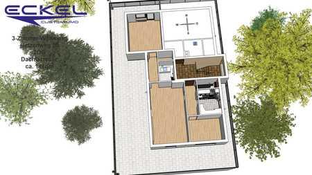 Sehr helle 3-Zimmer Dachterrassenwohnung mit Blick ins Grüne in Obermenzing (München)